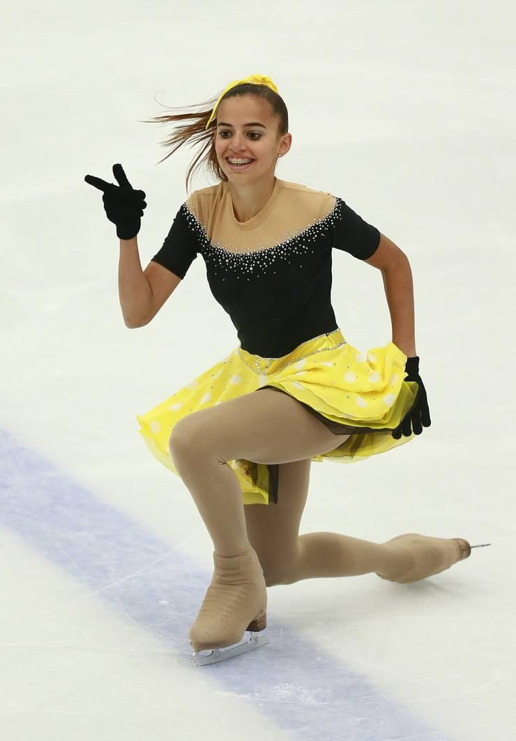 Lara Bumann holte sich ebenfalls mit persönlicher Bestleistung einen zweiten Platz.