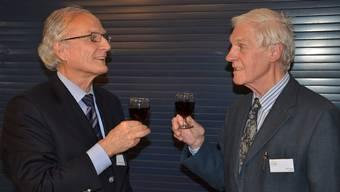 Der neue Genossenschaftspräsident Dr. Bruno Letsch und sein abtretender Vorgänger Karl Traub.