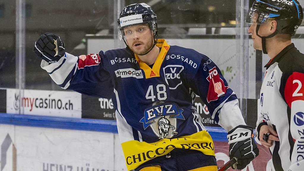 Carl Klingberg geht auch in den nächsten beiden Saisons beim EV Zug auf Torjagd