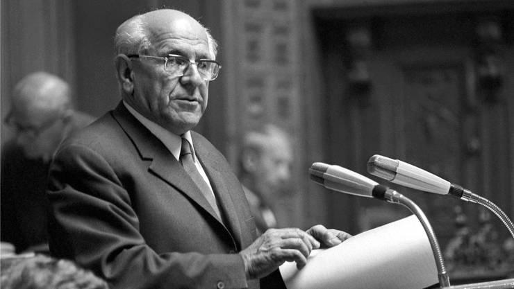 «HD Läppli»-Darsteller Alfred Rasser lebte in Rheinfelden und sass für den LdU von 1967 bis 1975 im Nationalrat.Keystone