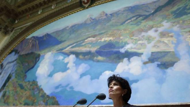 Uneinigkeit in ihrem Departement über ein ewiges AKW-Verbot: Energieministerin Doris Leuthard. Foto: Keystone