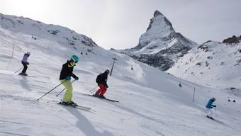 Am teuersten: Skifahren vor dem Matterhorn.