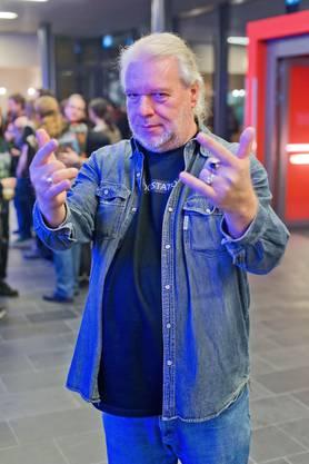 «Ich bin aufgrund des Radiosenders Rockstation hier, den wir 2005 gegründet haben. Wir sind an Metal-Festivals oft mit einem Stand vertreten. Wenn man einmal von der Musik des Metals infiziert wurde, bringt man es nicht mehr los. Ich habe auch selbst lange Musik gemacht, daher bin ich so begeistert.»