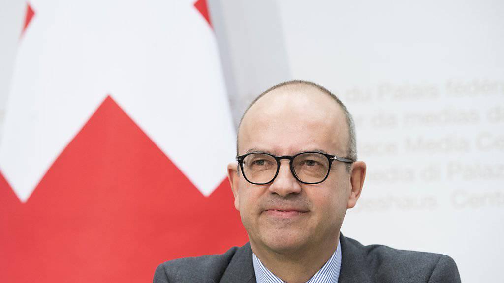 Eric Scheidegger ist stellvertretender Direktor des Staatssekretariates für Wirtschaft (SECO) und dort Leiter der mächtigen Direktion für Wirtschaftspolitik. Der Ökonom ist damit einer der führenden Köpfe, die die Rahmenbedingungen für die Zukunft der Schweizer Wirtschaft mitgestalten. (Archivbild)