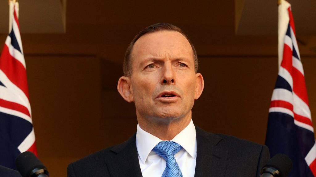 Der australische Premier Tony Abbott informiert über die Beschlüsse.