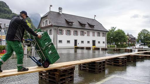 Hochwasser macht Innerschweizer Seegemeinden nervös