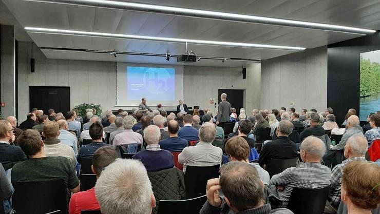 """Drei spannende Referate zum Thema """"Power to Gas"""" vor 170 Gästen im Eniwa Gebäude in Buchs"""
