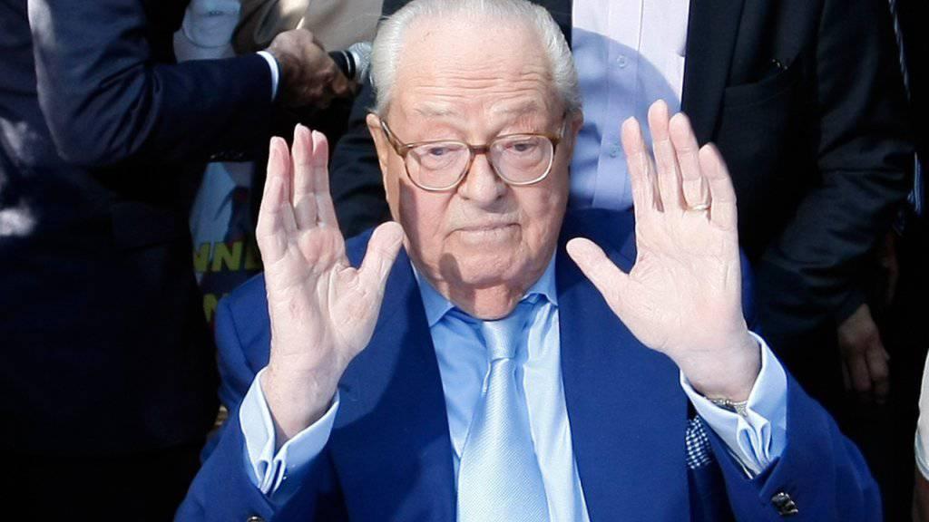 Jean-Marie Le Pen kündigt nach seinem Ausschluss aus dem Front National die Schaffung eines neuen Bündnisses an. (Archivbild)