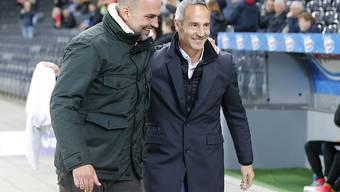 Adi Hütter (rechts) hat gut lachen: Er gewinnt mit YB und distanziert die Konkurrenz