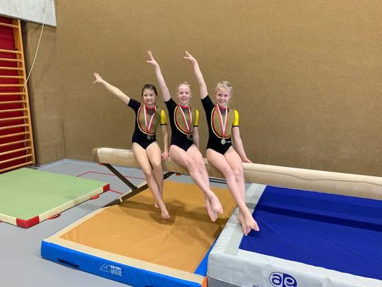 Mikaela Thieler, Sarah Graf und Noelia Haider vom P3