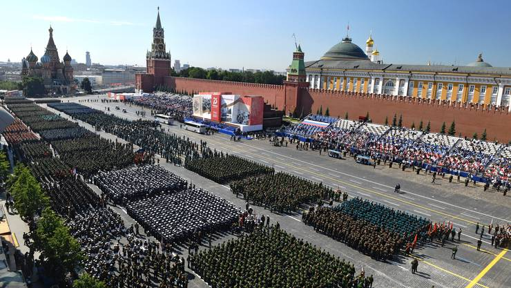 Die grösste Militärparade der Geschichte: Putin lässt Soldaten auf dem Roten Platz in Moskau aufmarschieren.