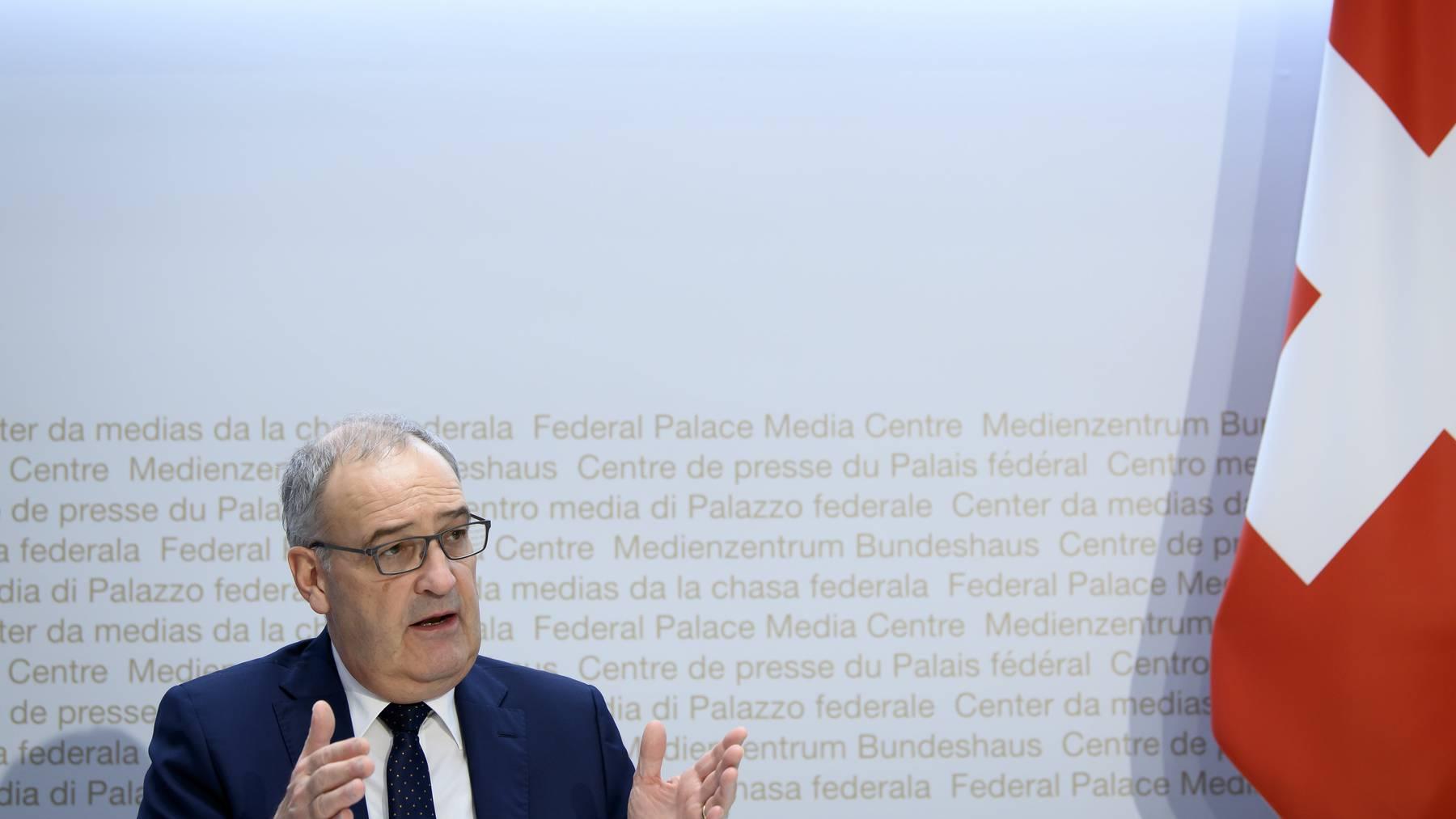 Bundesrat Guy Parmelin erachtet den Brexit-Vertrag zwischen Grossbritannien und der EU als «gute Nachricht» – auch für die Schweiz.