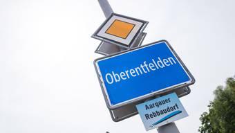 Ortsschild Gemeinde Oberentfelden