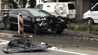 Unfall in Unterkulm