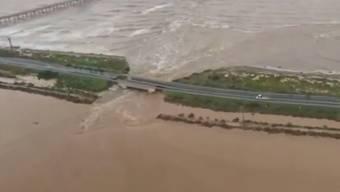 Sardinien kämpft mit dem Hochwasser. Eine Person wird vermisst.