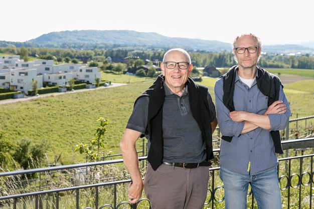Peter Züllig (l.) und Stefan Widmer vom Dorfverein Rütihof.