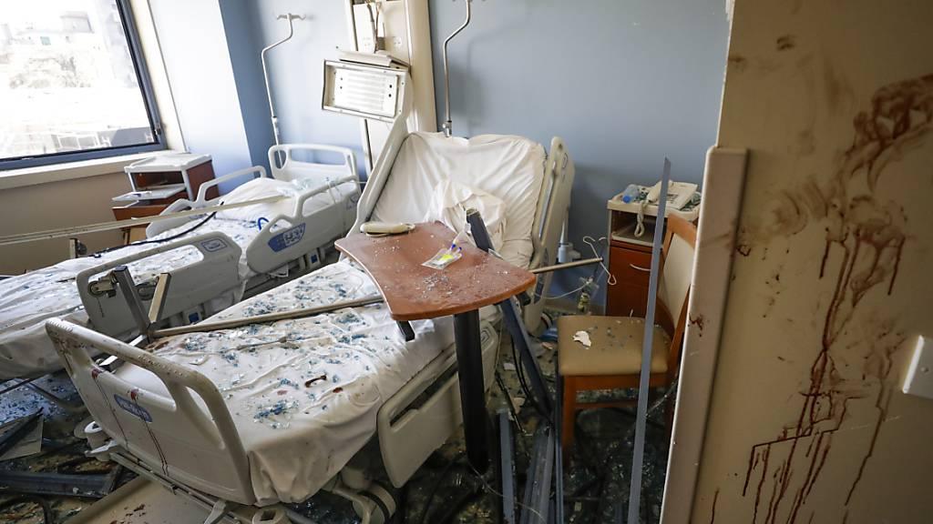 Vier Spitäler in Beirut wurden durch die Explosion stark beschädigt. (Archivbild)