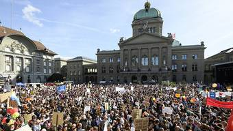 Gegen 100'000 Demonstranten forderten Ende September vor der Politik griffige Massnahmen gegen den Klimawandel.