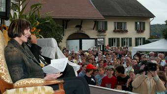 2005 war die damalige Bundesrätin Micheline  Calmy-Rey in Kirchdorf.