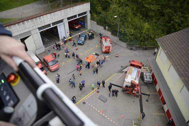 Die Feuerwehr-Hauptübung in Grenchen.