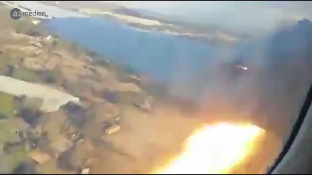 Passagier filmt eigenen Flugzeugabsturz