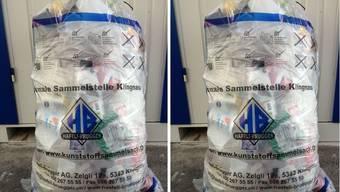 Kunststoffsammelsack: In den ersten drei Monaten sind bei der Klingnauer Häfeli-Brügger AG rund 1500 Säcke verkauft worden.