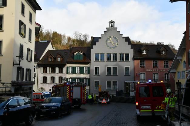 Feuerwehreinsatz in der Brugger Altstadt.