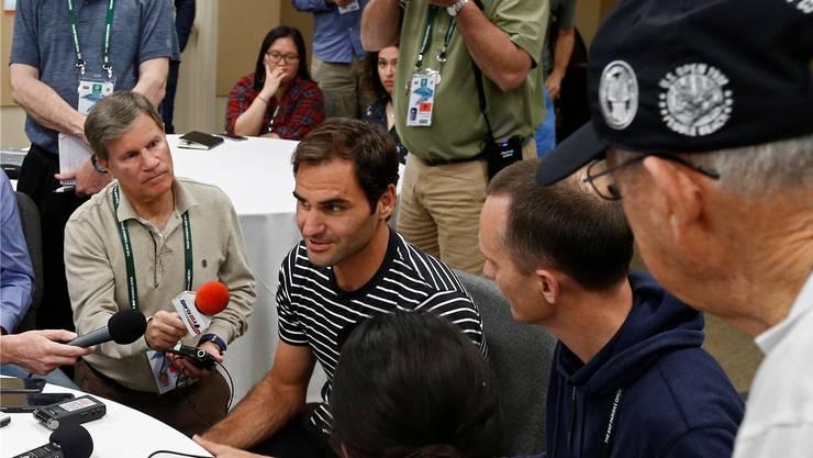 Roger Federer steht vor dem Turnier in Indian Wells im Fokus der Medien.