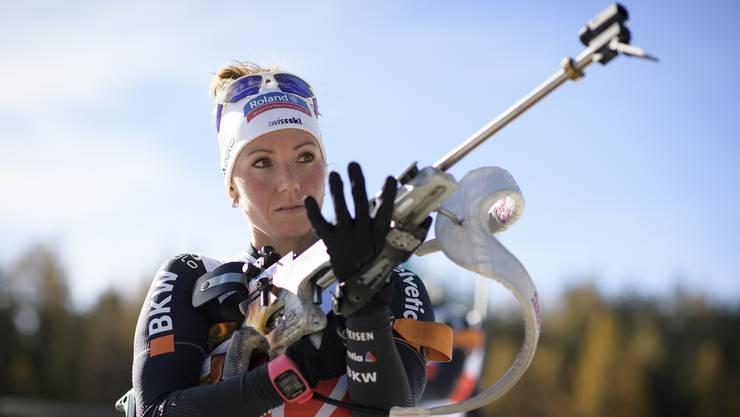 Regelmässig unter die Top 10 und das eine oder andere Mal auch aufs Podest: Selina Gasparin setzt sich hohe Ziele.