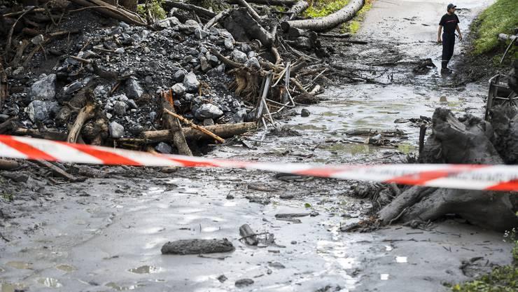 Im Walliser Dorf Chamoson ging am 11. August 2019 nach heftigen Unwettern eine Schlammlawine nieder. Die beiden Vermissten wurden in den Fluten des Flusses Losentze mitgerissen.