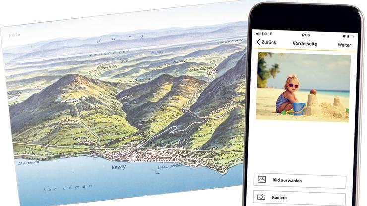 Von traditionellen Ansichtskarten bis zu personalisierten E-Postkarten: Feriengrüsse werden heute auf verschiedene Weise verschickt.