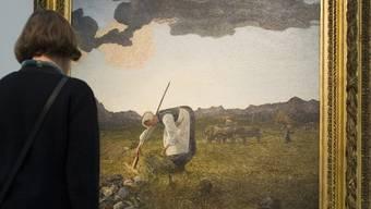 Alle wollen sie Segantinis Bilder sehen in der Ausstellung der Fondation Beyeler