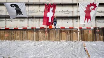 Baustelle Partnerschaft: Sollen die beiden Basel die bestehende Partnerschaft ausbauen oder gleich fusionieren? Darüber sind sich auch die ehemaligen Regierungsräte der beiden Halbkantone uneins.