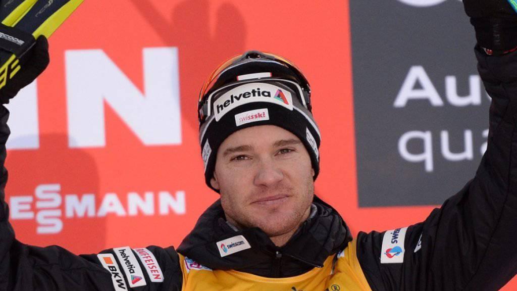 Dario Cologna durfte sich im Val di Fiemme über den 3. Gesamtrang an der Tour de Ski freuen
