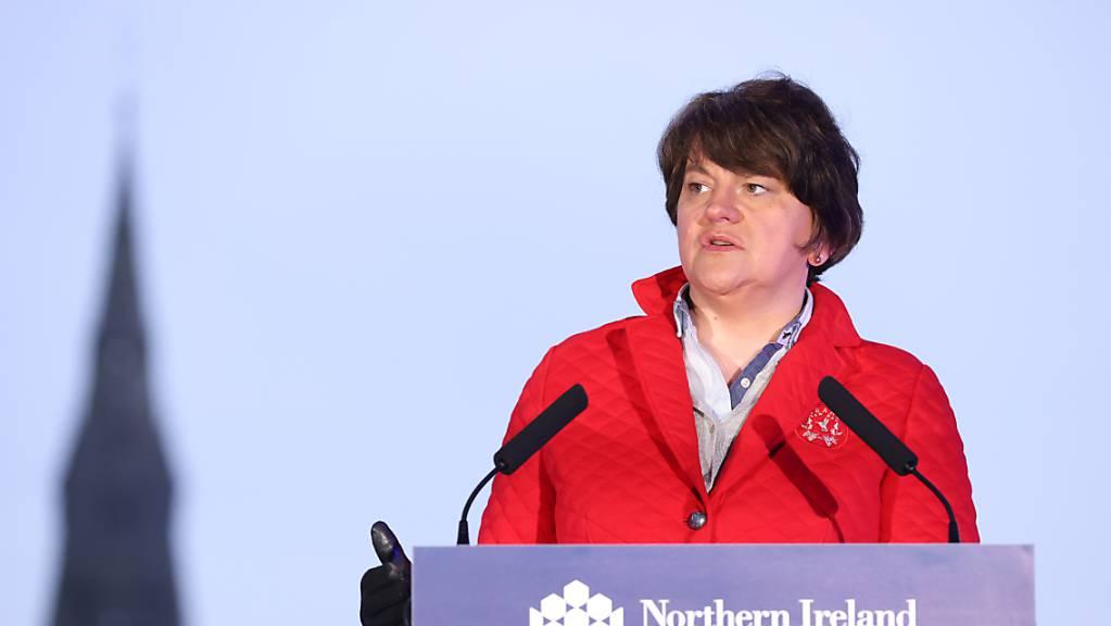 HANDOUT - Arlene Foster ist Regierungschefin von Nordirland. Foto: Kelvin Boyes/Press Eye/PA Wire/dpa - ACHTUNG: Nur zur redaktionellen Verwendung und nur mit vollständiger Nennung des vorstehenden Credits