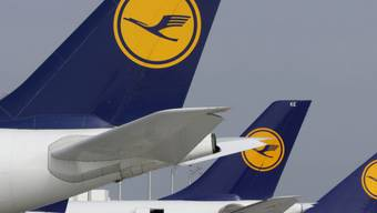 Lufthansa-Maschinen bei einem Streik vergangene Woche