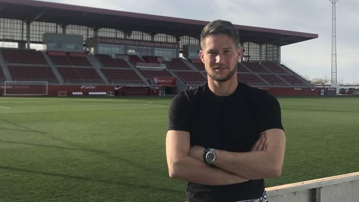 Tomas Vaclik, Ex-FCB-Goalie, auf dem Trainingsgelände des FC Sevilla, für den er seit Juli 2018 spielt.