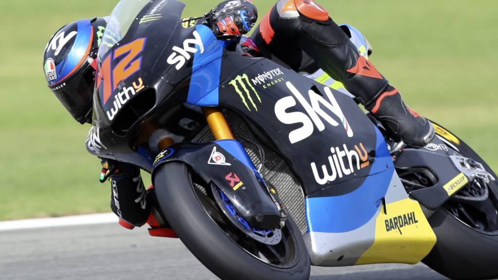 Technische Probleme: Tom Lüthi blieb beim GP von Europa in Valencia chancenlos und ausserhalb der Punkte