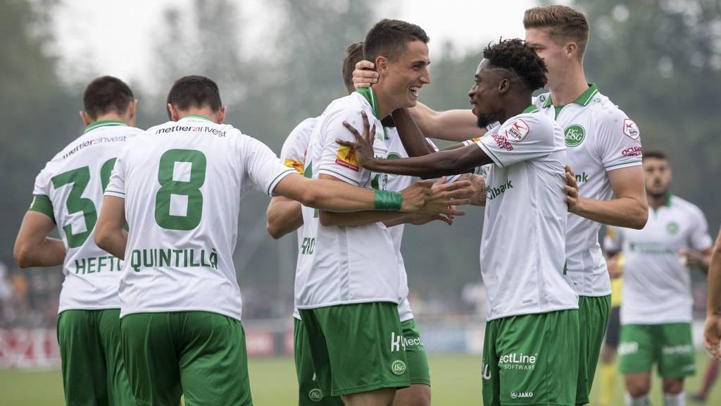 Vergangenen Sonntag jubelten nur die St.Galler - gegen Lugano erneut?