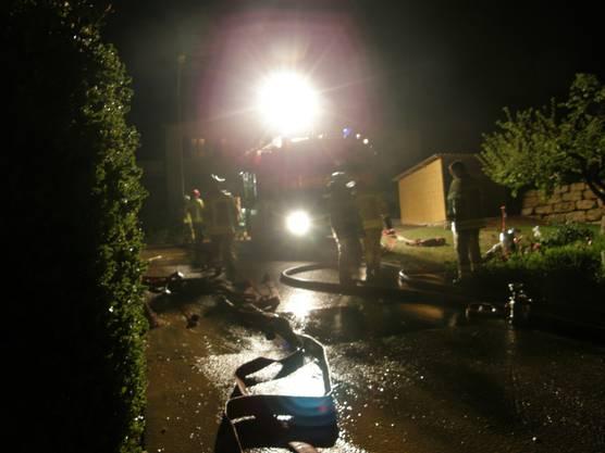 Die Feuerwehr Brugg hatte viel zu tun.