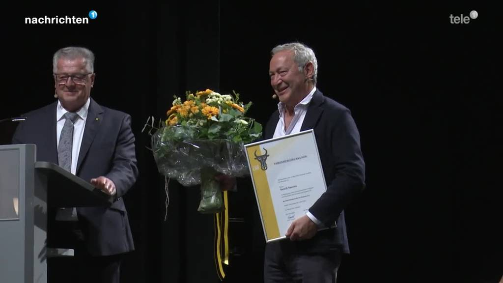 Verleihung Urner Ehrenbürgerrecht an Samih Sawiris