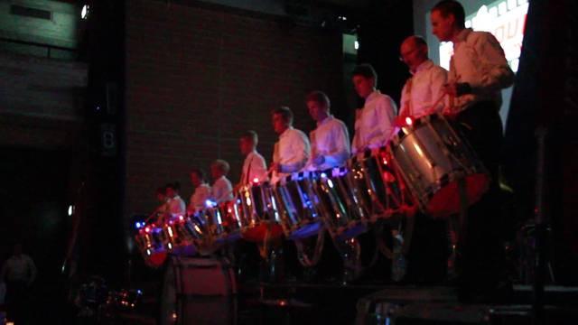 Die Tambouren mit ihrer Lichtshow.