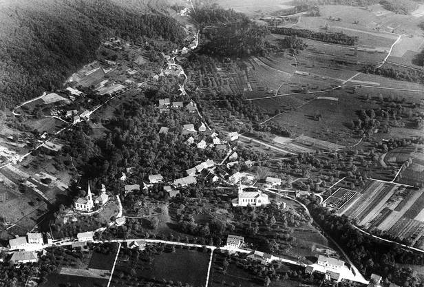 Luftaufnahme von Gebenstorf im Jahr 1923
