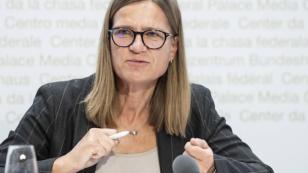 Die Situation sei trotz flächerer Kurve besorgniserregend: Virginie Masserey, Leiterin der Sektion Infektionskontrolle im Bundesamt für Gesundheit.