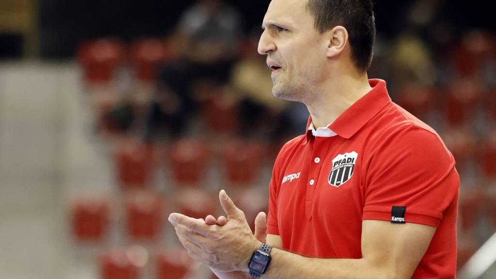 Pfadi Winterthurs Trainer Goran Cvetkovic ist in der Gruppenphase der European League gefordert