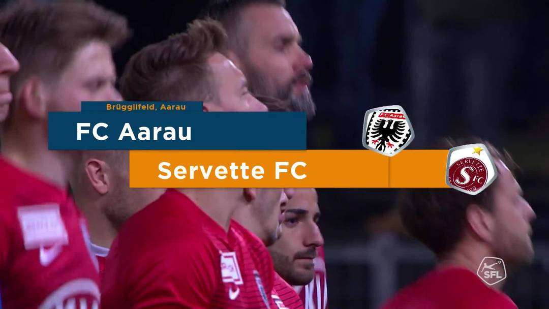 Challenge League 18/19 Runde 23: FC Aarau - Servette FC 1.3.19 - Matchhighlights