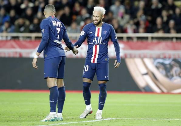 Zuletzt scheiterten Kylian Mbappé (l.) und Neymar zweimal im Achtelfinal.
