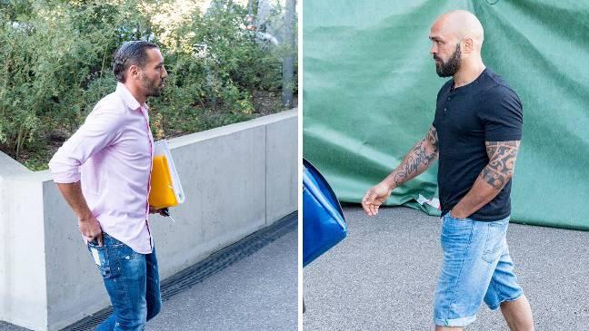 Prozesstag 7: Shemsi Beqiri (l.) und Paulo Balicha vor dem Muttenzer Strafgericht