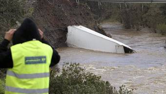Die eingestürzte Brücke in Fuencaliente
