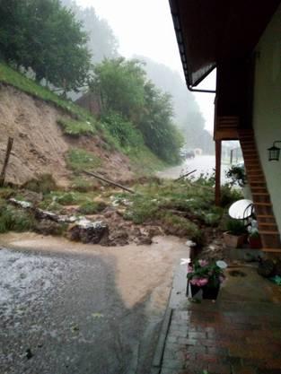Überschwemmung in Bottenwil